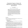 Grammatical Aspects: Coping with Duplication and Tangling in Language Specifications