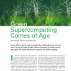 Green Supercomputing Comes of Age