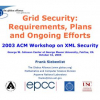Grid security: requirements, plans and ongoing efforts