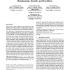 Group formation in large social networks: membership, growth, and evolution