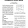 Have a say over what you see: evaluating interactive compression techniques