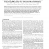 Heads Up and Camera Down: A Vision-Based Tracking Modality for Mobile Mixed Reality