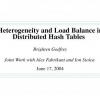 Heterogeneity and load balance in distributed hash tables