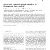 Hierarchical Fusion of Multiple Classifiers for Hyperspectral Data Analysis