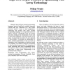 High-level object oriented programming with array technology