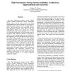 High Performance Storage System Scalability: Architecture, Implementation and Experience