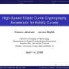 High-Speed Elliptic Curve Cryptography Accelerator for Koblitz Curves