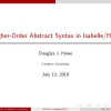 Higher-Order Abstract Syntax in Isabelle/HOL