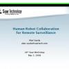 Human-Robot Collaboration for Remote Surveillance