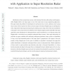 Identification of Underspread Linear Systems with Application to Super-Resolution Radar