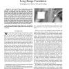 Image information restoration based on long-range correlation