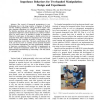 Impedance Behaviors for Two-handed Manipulation: Design and Experiments