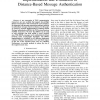 Implementation and evaluation of distance-based message authentication