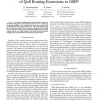 Implementation and Performance Measurements of QoS Routing Extensions to OSPF