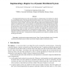 Implementing a Register in a Dynamic Distributed System