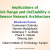 Implications of link range and (In)stability on sensor network architecture