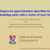 Improved Approximation Algorithm for Scheduling Tasks with a Choice of Start Times