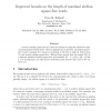 Improved Bounds on the Length of Maximal Abelian Square-free Words
