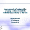 Improvements of Webometrics by Using Sentiment Analysis for Better Accessibility of the Web
