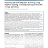 Improving de novo sequence assembly using machine learning and comparative genomics for overlap correction