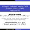 Improving Diversity in Ranking using Absorbing Random Walks