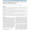 Improving pan-genome annotation using whole genome multiple alignment