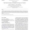 Improving the analyses of nestedness for large sets of matrices
