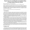 Improving user verification by implementing an agent-based security system