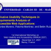 Inclusive Usability Techniques in Requirements Analysis of Accessible Web Applications