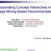 Incorporating Concept Hierarchies into Usage Mining Based Recommendations