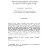 Individual and collective determinants of academic scientists' productivity