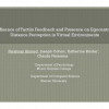 Influence of tactile feedback and presence on egocentric distance perception in virtual environments