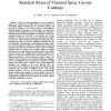 Influence of Vacuum Heat Treatment on the Residual Stress of Thermal Spray Cermet Coatings