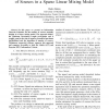Information theory based estimator of the number of sources in a sparse linear mixing model