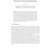 Input Selection for Radial Basis Function Networks by Constrained Optimization
