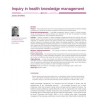Inquiry in health knowledge management