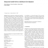 Integrated model-driven dashboard development