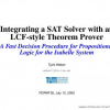 Integrating a SAT Solver with an LCF-style Theorem Prover