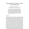 Integrating Object and Meta-Level Value Based Argumentation