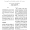 Integrating Time into Spatially Represented Knowledge Structures