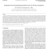 Integration of local and global geometrical cues for 3D face recognition