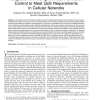Integration of Pricing with Call Admission Control to Meet QoS Requirements in Cellular Networks
