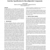Interface specification for reconfigurable components