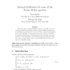 Internal Stabilization by Noise of the Navier--Stokes Equation