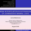 Interpolation and Joint Consistency