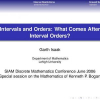 Intervals and Orders: What Comes After Interval Orders?