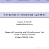 Introduction to Randomized Algorithms