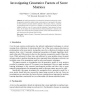 Investigating Generative Factors of Score Matrices