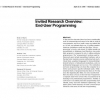 Invited research overview: end-user programming