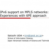 IPv6 support on MPLS networks: Experiences with 6PE approach